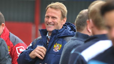Teddy Sheringham looks relaxed before kick off