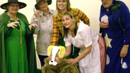 Fairfield Players in costume for the Wicked Witches of Oz