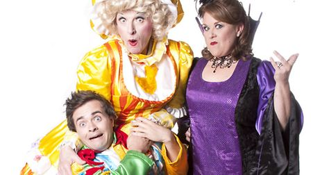 Coronation Street star Wendi Peters, pictured in costume with co-stars Paul Laidlaw and Aidan ONeil,