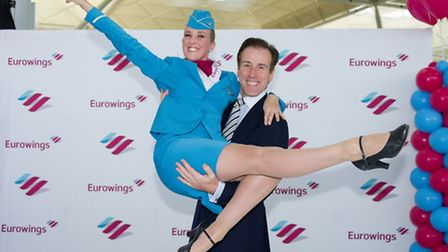 Anton Du Beke with Anton Du Beke and Lea Kirby from The Dance Mob performing a Viennese Waltz in the