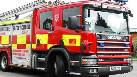 Firefighters were called to a flat in Stevenage this afternoon to tackle a blaze caused by burnt coo
