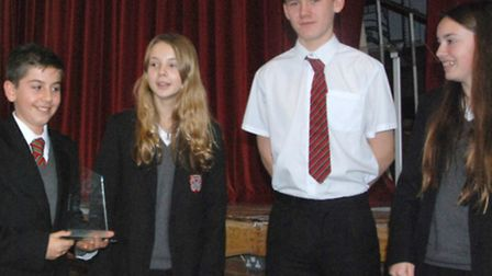 A team from The Priory School in Hitchin were runners-up in the intermediate section of the annual R