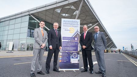 Oliver Buck, Omniserv airport manager, Andrew Harrison, managing director at Stansted Airport, Barry