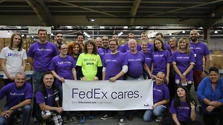 FedEx employees from Stansted Airport.