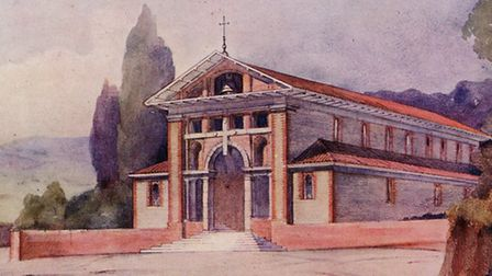 The original vision: what Lutyens intended the church to look like in 1911.