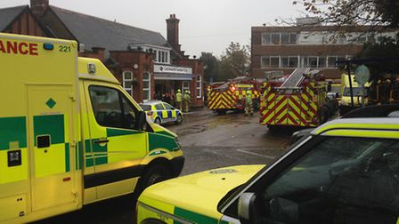 The scene in Letchworth. PICTURE: Olly Foster.