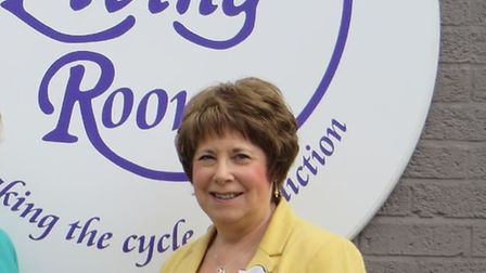 The Living Room founder Janis Feely outside the Stevenage-based addiction therapy centre.