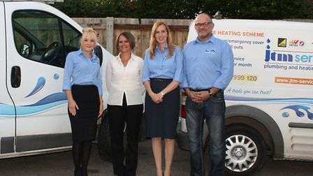JTM Plumbing and Heating Services' office manager Michelle McDade and finance manager Jackie Dilley
