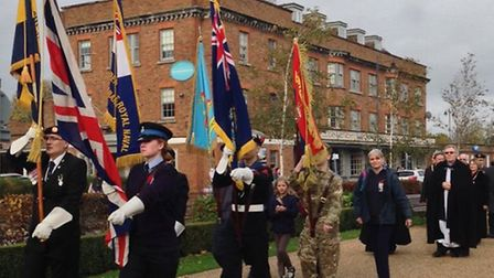Remembrance Sunday in Letchworth. Credit: @LGCtownwarden.
