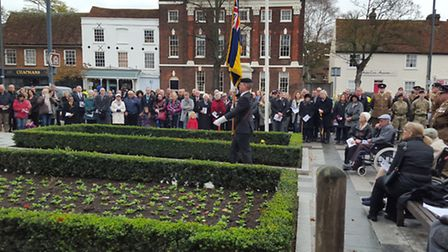 The Remembrance Sunday service in Baldock.
