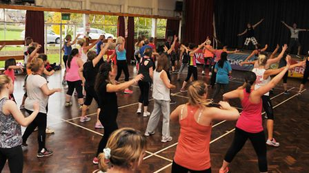 The charity zumbathon to raise money for Bloodwise at the Priory School