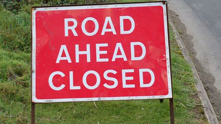 The A602 has been shut in both direction after a motorcyclist came off his bike near Watton-at-Stone