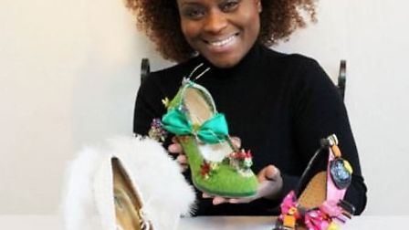 Stevenage shoe artist Emily 'Milly J' Jupp has won the Outstanding Womean in the Creative Industries