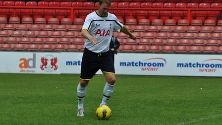 Teddy Sheringham playing for Spurs Legends. Picture supplied by Billy Shaw