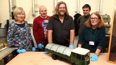 Kate Pape, Keith Fitzpatrick, David Hodges, Mark Hazelgrove and Ros Allwood, from North Herts Museum