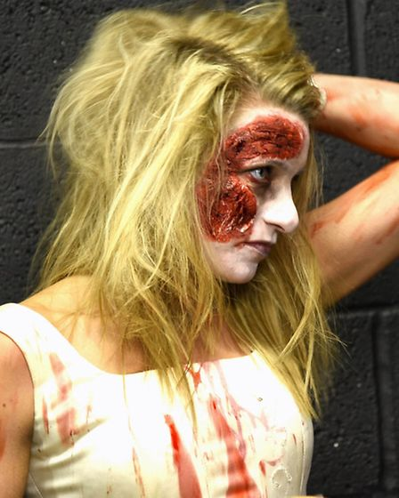 A deadly pose for ZombieQuest Hitchin. Picture: Billie Bachra
