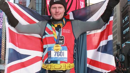 Richard Kell after completing his Only Fools & Heroes running trilogy in New York.
