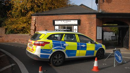 The damage at G.W. Hardy and Son's funeral directors in Finchingfield