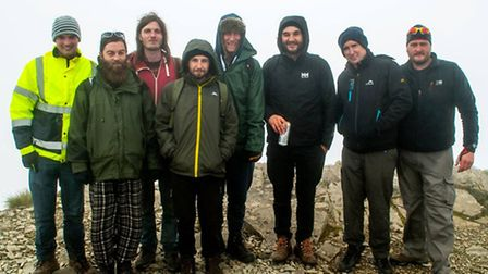 The group at the top of Ben Nevis.