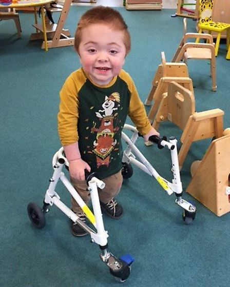 Jacob Carter of Letchworth has Hurler syndrome.