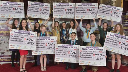 Hertfordshire finalists in the 2015 Yopey awards for outstanding young people