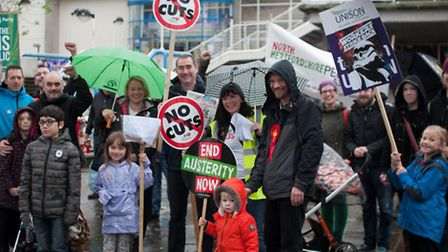 The People's Assembly North Herts held a rally in Stevenage to highlight opposition to the governmen