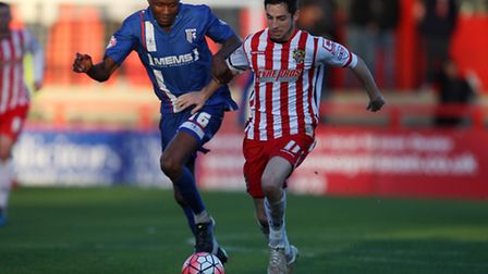 Tom Pett in action in Saturday's first round win over Gillingham