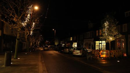 It's looking a bit gloomy down Leys Avenue after part of the street has been left without Christmas