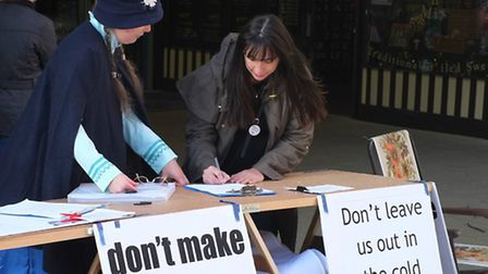 Hundreds of people signed up to protest about bus cuts in Herts at signing sessions in Stevenage and