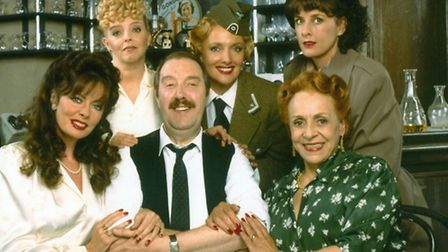 Sue Hodge, top left, with other cast members - including Vicki Michelle, a patron of Stevenage's Gor