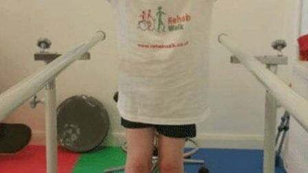 Jack Gower from Hitchin is having intensive physiotherapy as he strives to walk independently.