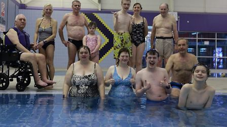 Members of Dolphins Swimming Club at Stevenage Swimming Centre.