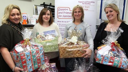 Joanna Wells, (Organiser), Gayle Cook, (Home-Start), Maggie Charles, (Manager Home-Start) and Sarah