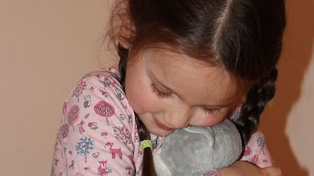 Evie Angelidi is 'reunited' with her toy Poppy.