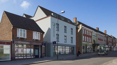 An impression of what the new Premier Inn building will look like.