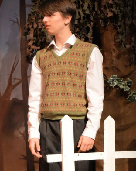Performance pictures from December 2015 production of James & The Giant Peach by the Bancroft Player