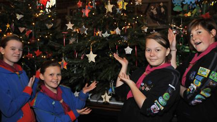 11th Hitchin Girl Guides Amelia Wells, 11, Emily Jones, 10, Lucy Anderson, 15 and Charlotte Bevan, 1