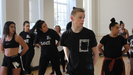 Dance students at Da Vinci Studio School of Creative Enterprise during a session with Warriorz Perfo