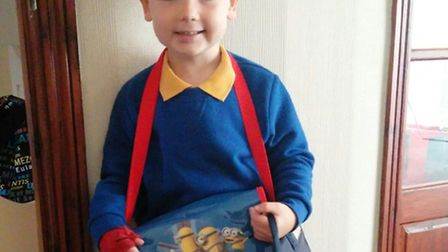 Harrison Denman from Stevenage has weakness down one side of his body due to hemiplegia, and has bee