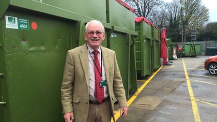 Councillor Richard Thake, who is responsible for waste management at Herts County Council.
