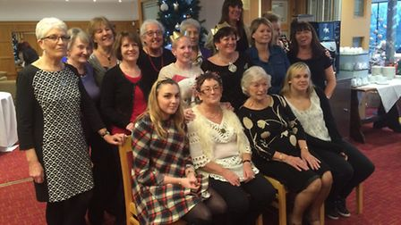 Staff and members of the Douglas Drive Day Centre at Knebworth Golf Club for their Christmas lunch.