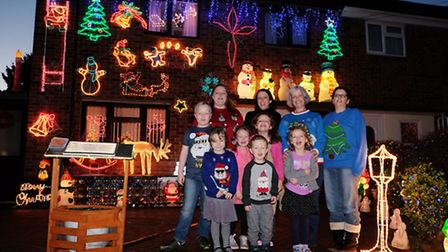 DECEMBER: Kerrie Dommett and her family at her Aunt Lynda Chapman's house in Hitchin, one of many li