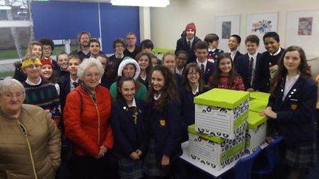 John Henry Newman students organised a 'Hampers Little Helpers' appeal.