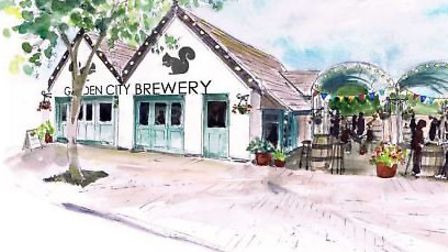 An artist's impression of the Garden City Brewery. Credit: Holly-Anne Rolfe.