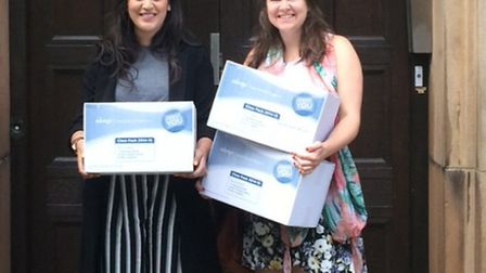 Sanya Masood and Sophie Harrold are collecting more sanitary products for homeless women following t