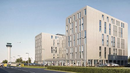 The proposed Hampton by Hilton hotel at Stansted Airport.