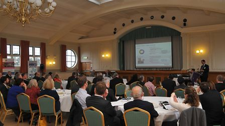 Business leaders attend the Herts LEP meeting at the Spirella Building in Letchworth.