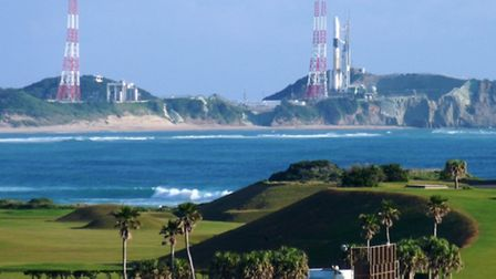 Hang on, that's not Gunnels Wood Road: Telstar was launched from this site in Japan, while staff fro