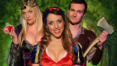 Snow White and the Magnificent Seven is the annual adult panto at the Market Theatre in Hitchin