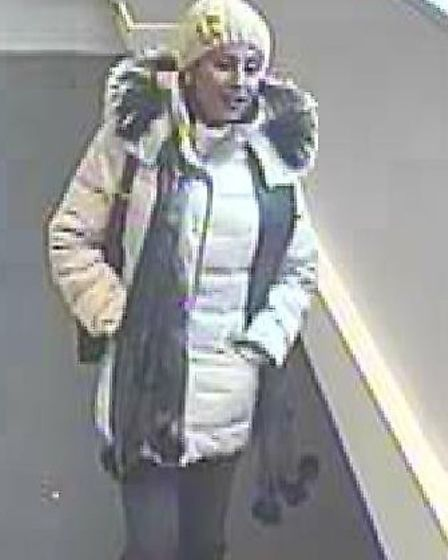 Do you know this woman? Police want to talk to her in connection with a theft in Hitchin